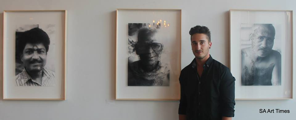 Marcus Viljoen with his  'Untitled'  series