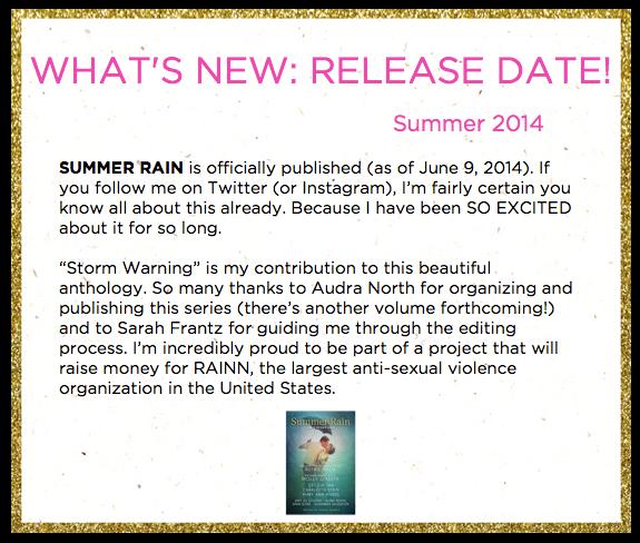 Summer 2014 Update