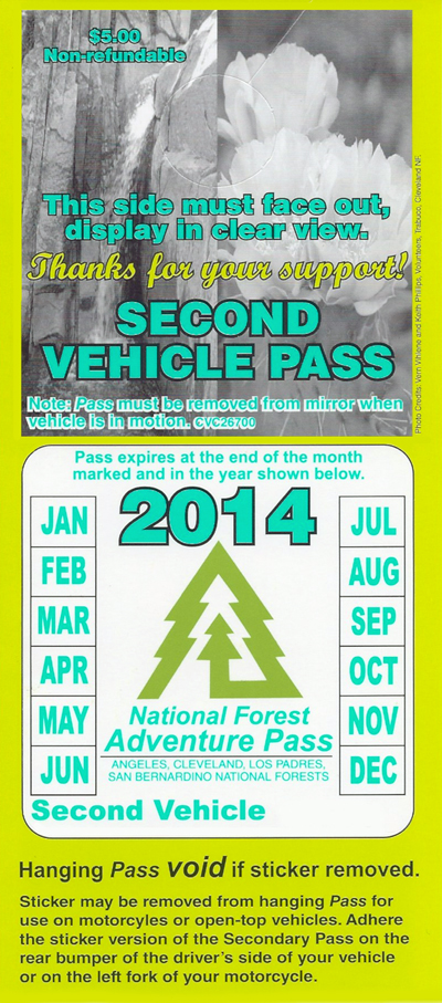 Annual Second Vehicle Pass