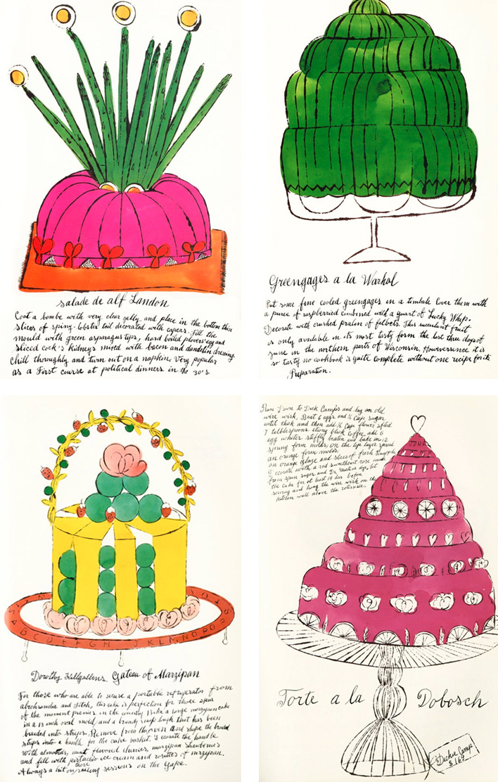 Andy Warhol's Cake Sketch