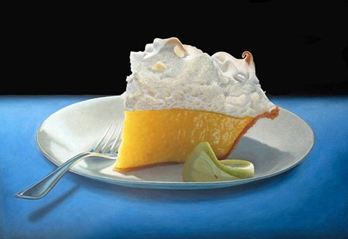 Mary Ellen Johnson's hyperreal painting of cakes