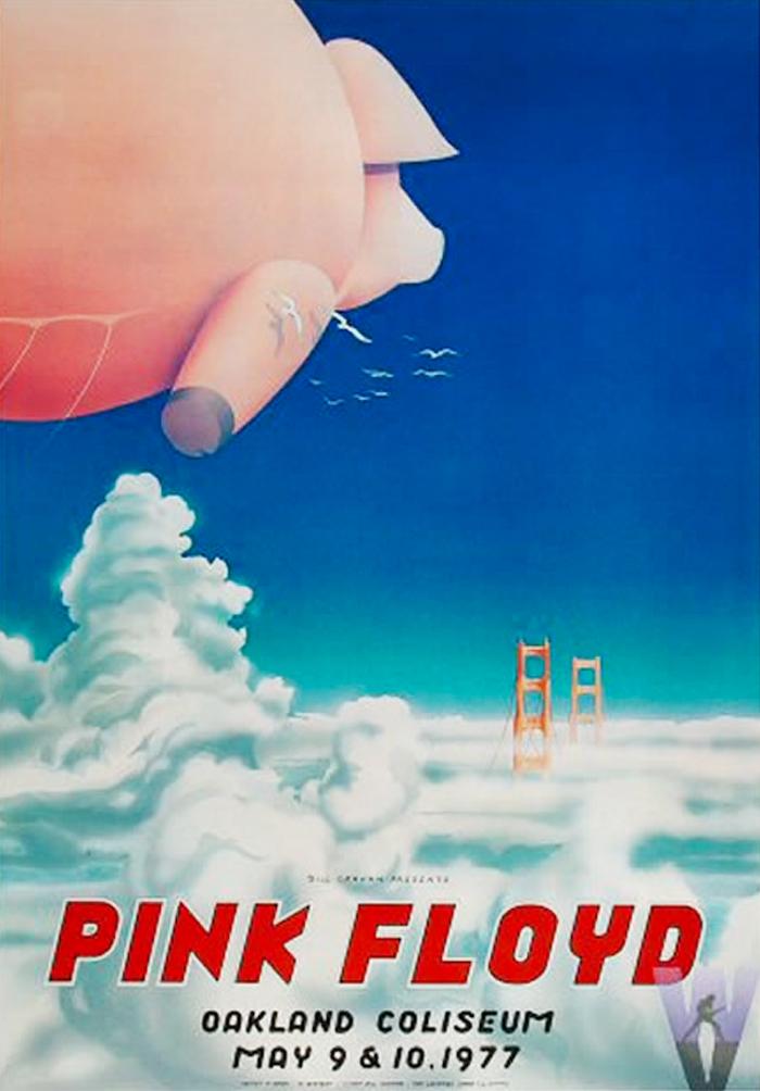 Pink Floyd 70s Pig Poster