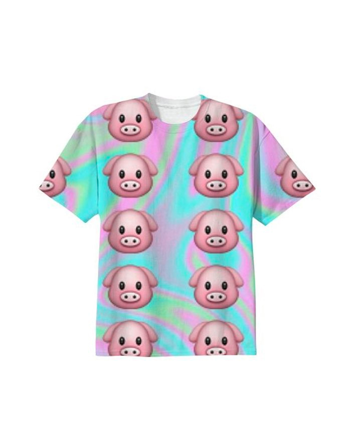 emoji pig shirt