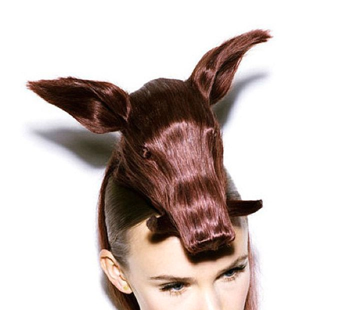 pig hair styling