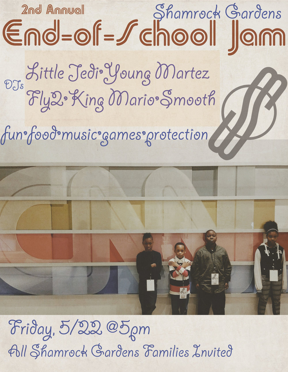 Graphics by DJ Young Martez (2nd from Left).