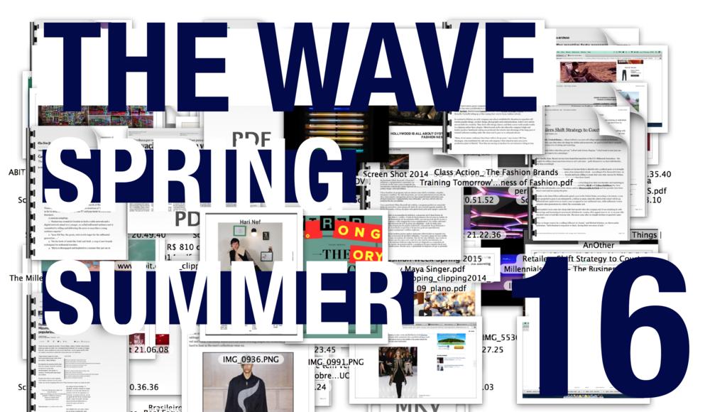THE WAVE - SS16 @ PARIS_set 2014   Algo grandioso está para acontecer. Uma mudança revolucionária, provocada pelo desenvolvimento das tecnologias de comunicação aliado ao amadurecimento de uma nova geração de consumidores e criadores. A moda se volta para sua própria estrutura para tentar compreender mudanças intrínsecas a um novo mundo e tempo que se instauram. A moda se recolhe em formas e cores para em breve, explodir.