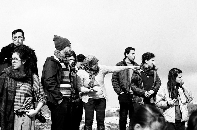 Extend participants speak with Manal Tamini, a leading civil disobedience activist in Nabi Saleh, the West Bank.