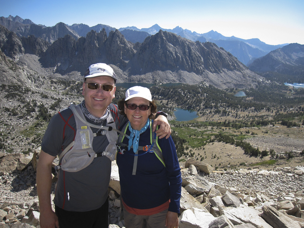 Clynton, my brother, and Alyna, my mother, at Kearsarge Pass.