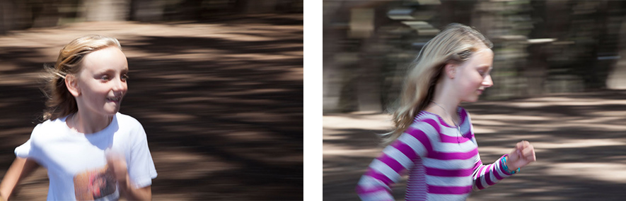 We also explored motion photographing and in particular panning, where the subject is focused in motion, but the background is blurred.