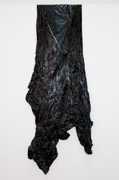 Elephant , Oil on Plastic Dustsheet, 145x65cm, Photograph Alan Sams
