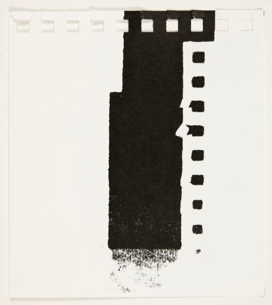 Offset Fragment , Monotype On Fabriano Scketch Book Paper, 10x15cm,  Photograph Alan Sams
