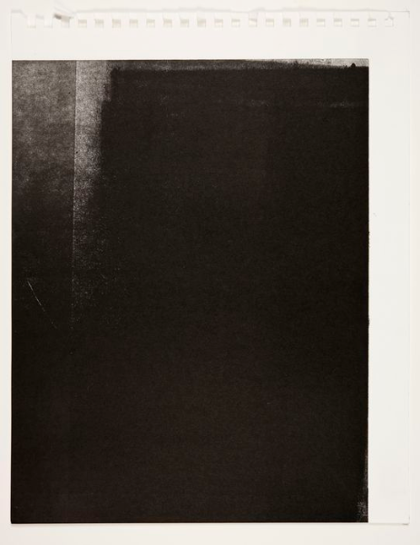 Offset Fragment , Monotype On Fabriano Scketch Book Paper, 24x35cm,  Photograph Alan Sams