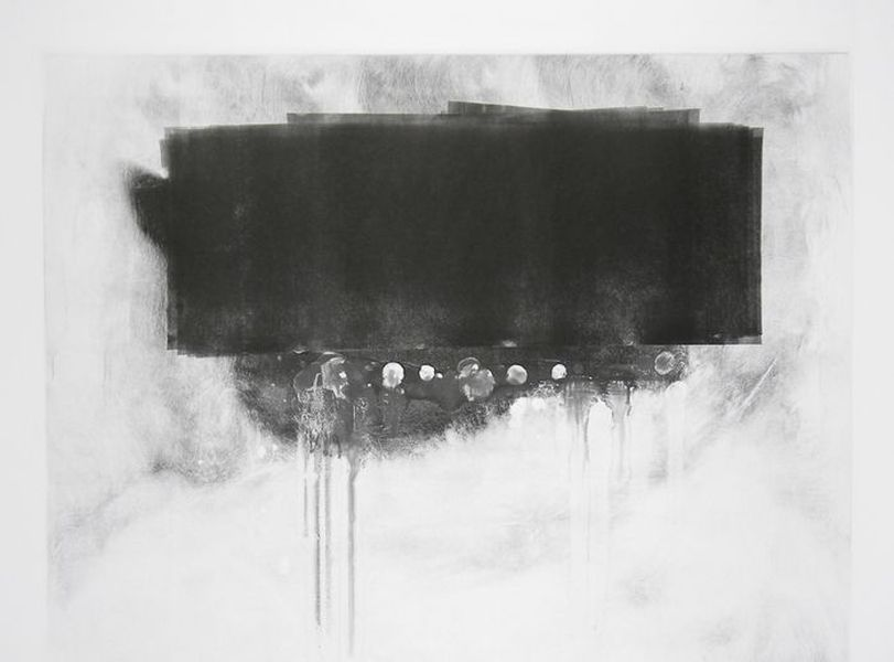 Diluting Black, Monotype On Cartridge Paper , 70x100cm, Photograph Alan Sams
