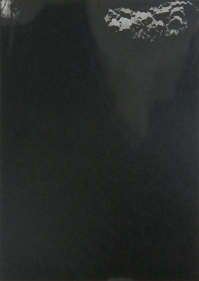 Diluting Black, Monotype On Cartridge Paper, 24x40cm, Photograph Alan Sams