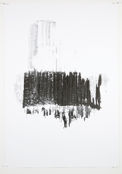 Diluting Black, Monotype On Cartridge Paper, 70x100cm, Photograph Alan Sams