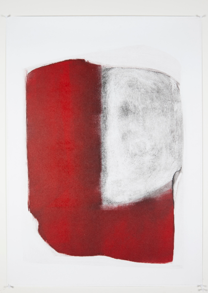 Exercise in Black and Red, Monotype On Cartridge Paper, 43x65cm, Photograph Alan Sam