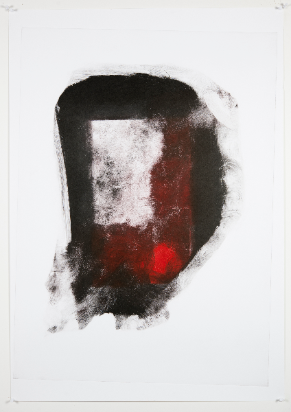 Exercise in Black and Red, Monotype On Cartridge Paper , 43x65cm, Photograph Alan Sams
