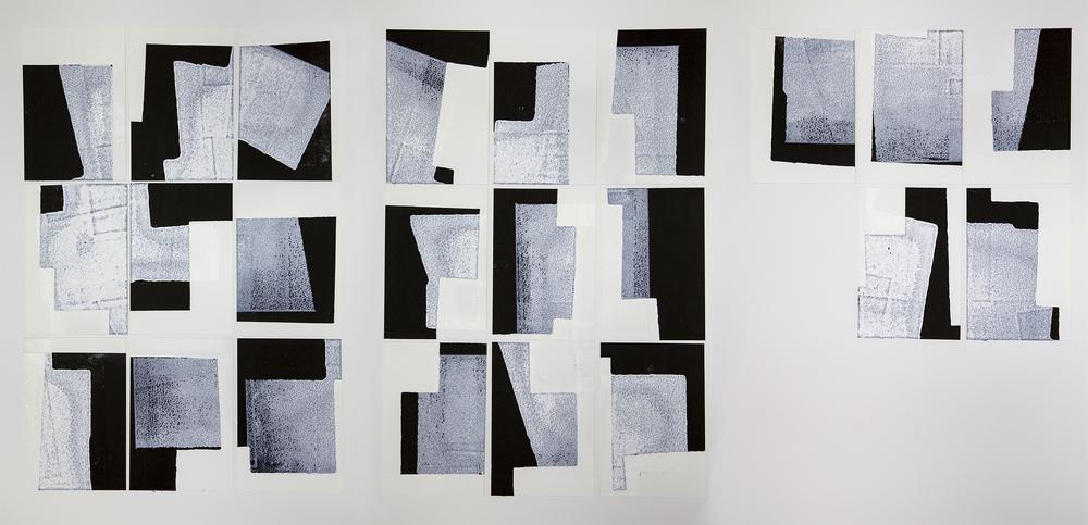 The Flemish Postcards,Monochrome Offset Monotype on Daler Rowney Watercolour Paper Postcards, 15x10cm, (x23)