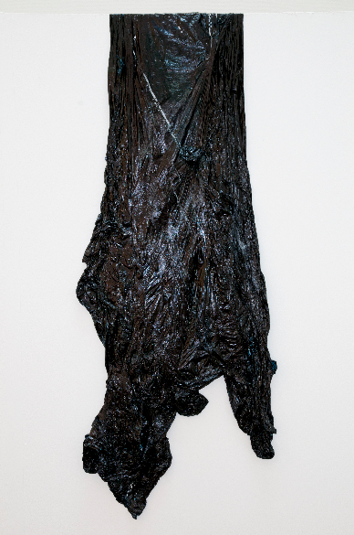 Elephant  , Oil on Plastic Dustsheet, 145x65cm, 2011
