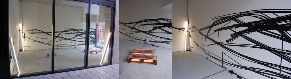 Painting a Wall Black , Insulation Tape Over Wall, 2011