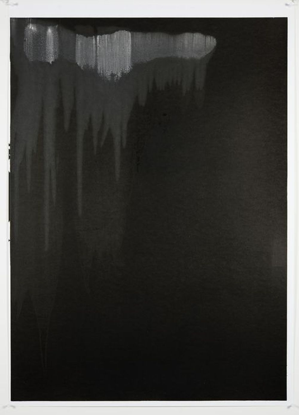 Diluting Black , Monotype On Cartridge Paper, 40x62cm, 2010