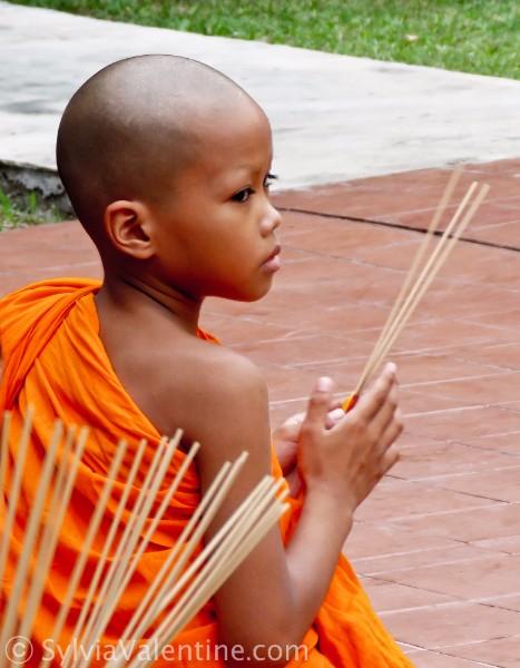 Monk Boy Full view Thailand