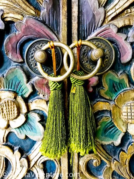 Green Tassle Close up Bali