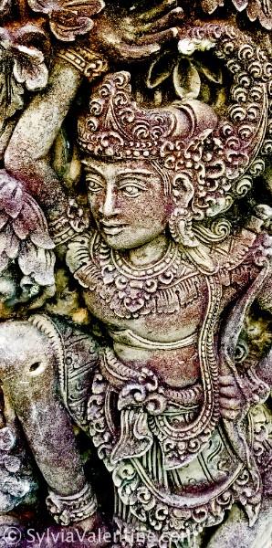 Purple Statue Bali