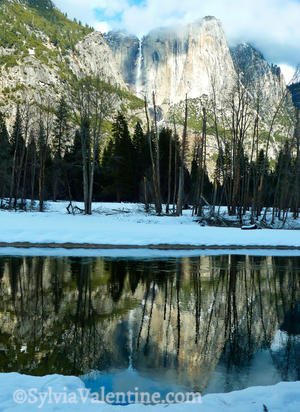 Yosemite Falls Full Reflection