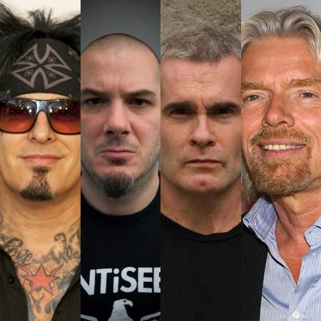 L to R: Nikki Sixx, Philip H. Anselmo, Henry Rollins, Sir Richard Branson.