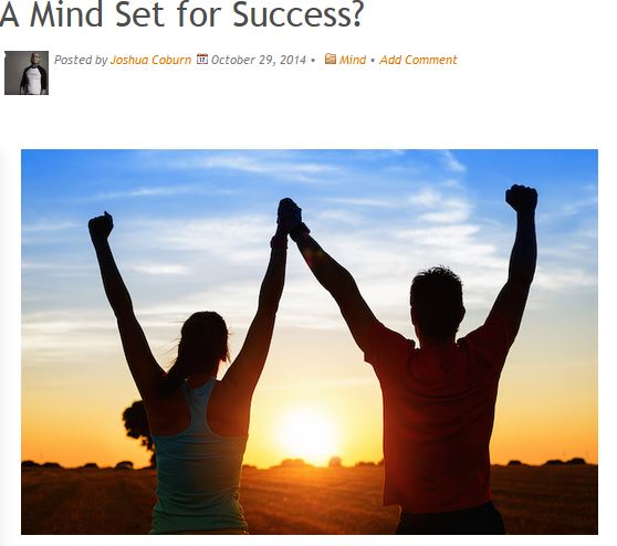 A Mind Set for Success. Article by Joshua Coburn for My Empowered World