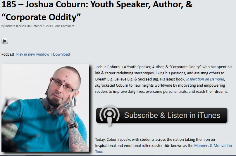 Click to listen to Joshua Coburn as featured on Dose of Leadership!