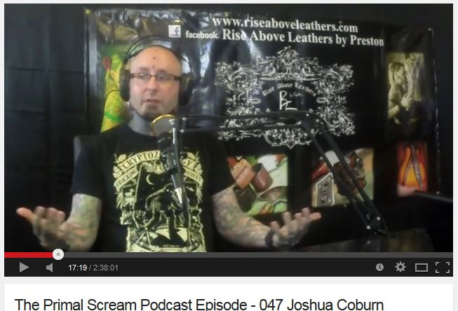 Click to watch Joshua Coburn on The Primal Scream Podcast. *Note occasional course language from the hosts.