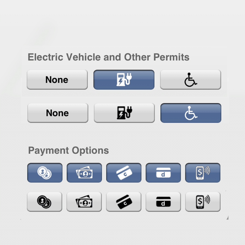 Parking filter icons  (created in Photoshop)