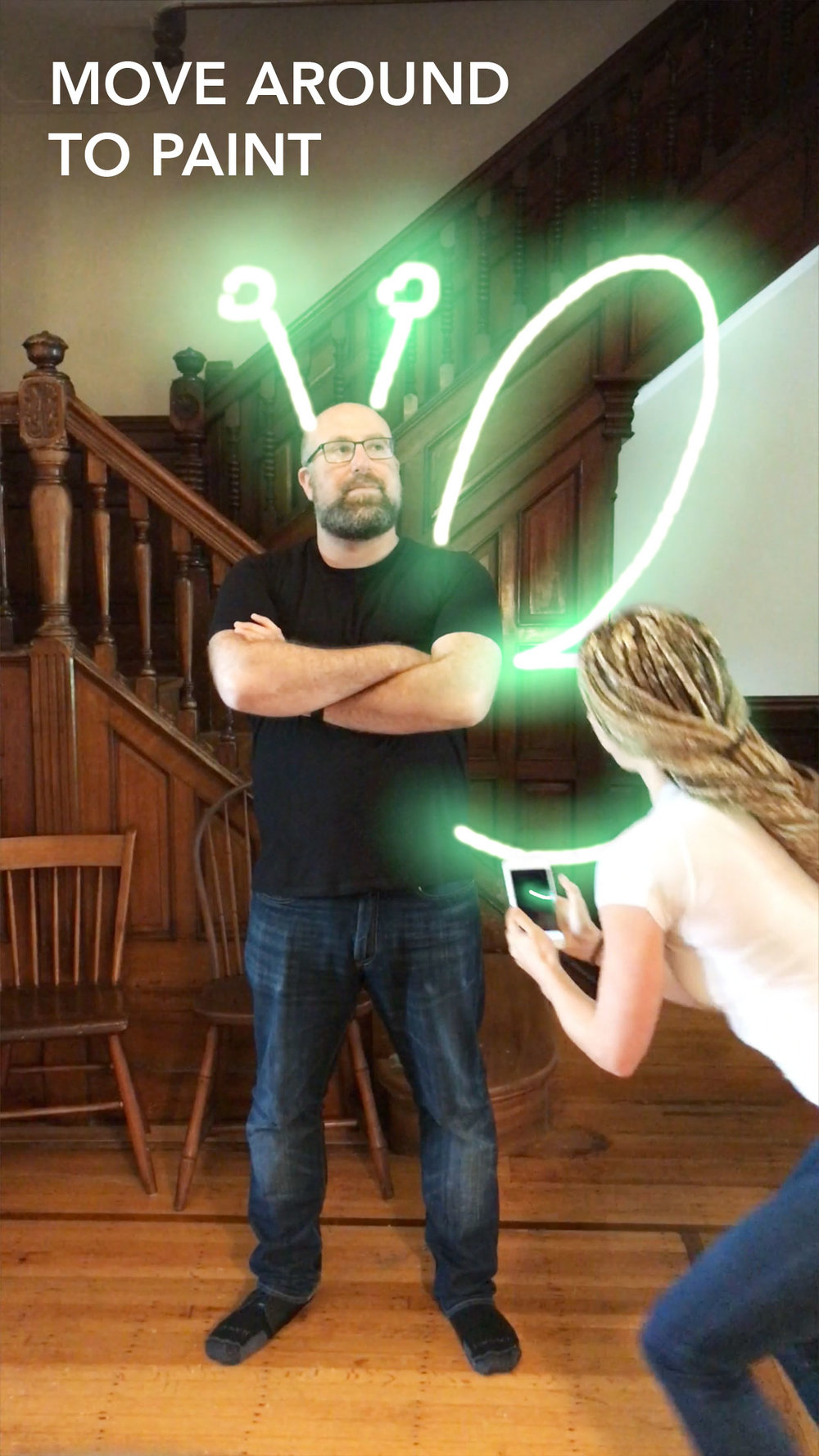 LightSpace App paint with light in AR