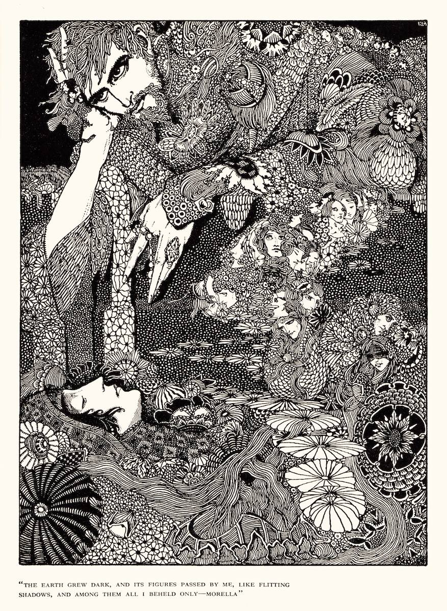 "Art by Harry Clarke for Poe's Tale ""Morella"" (1936)"
