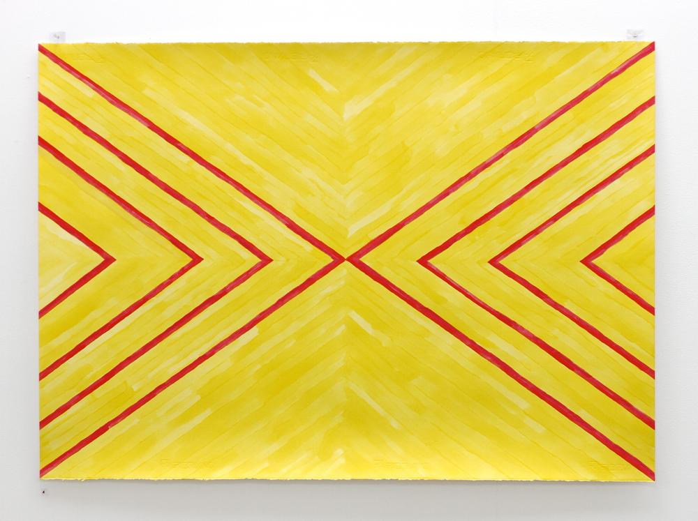 Priere à Tagaloaalagi et Ahura Mazda / Prayer to Tagaloaalagi and Ahura Mazda - Léuli Eshraghi, acrylic on Fabriano paper, 100 x 71cm, 2014