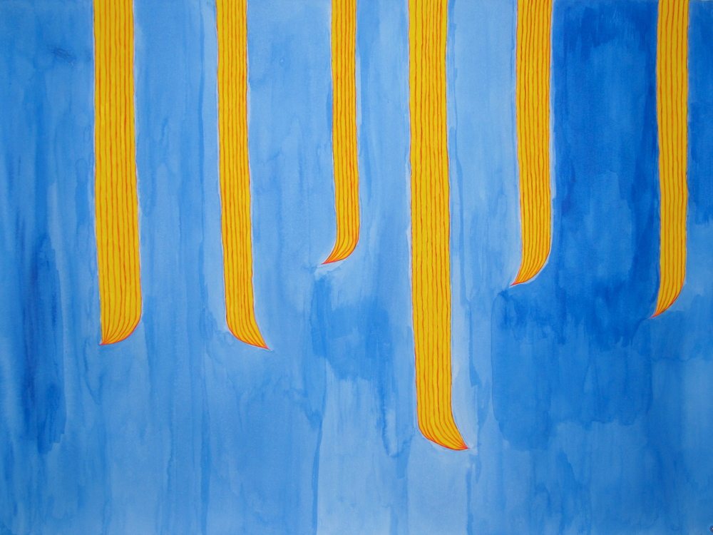 'O loimata i le lā | Tears in the sun, Léuli Eshraghi, acrylic on Hahnemühle paper, 110 x 81cm, 2012