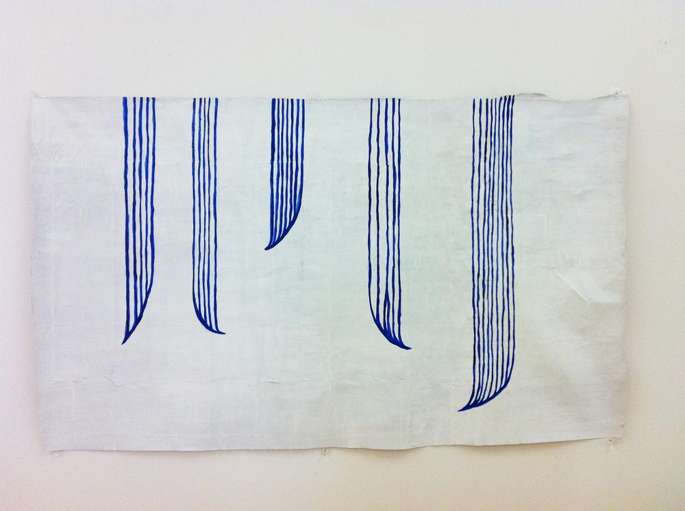'O loimata tapu 'o Apaula i le Mauga 'o Vaea | Apaula's sacred tears on Mount Vaea, Léuli Eshraghi, acrylic on paper, 130 x 75cm, 2012