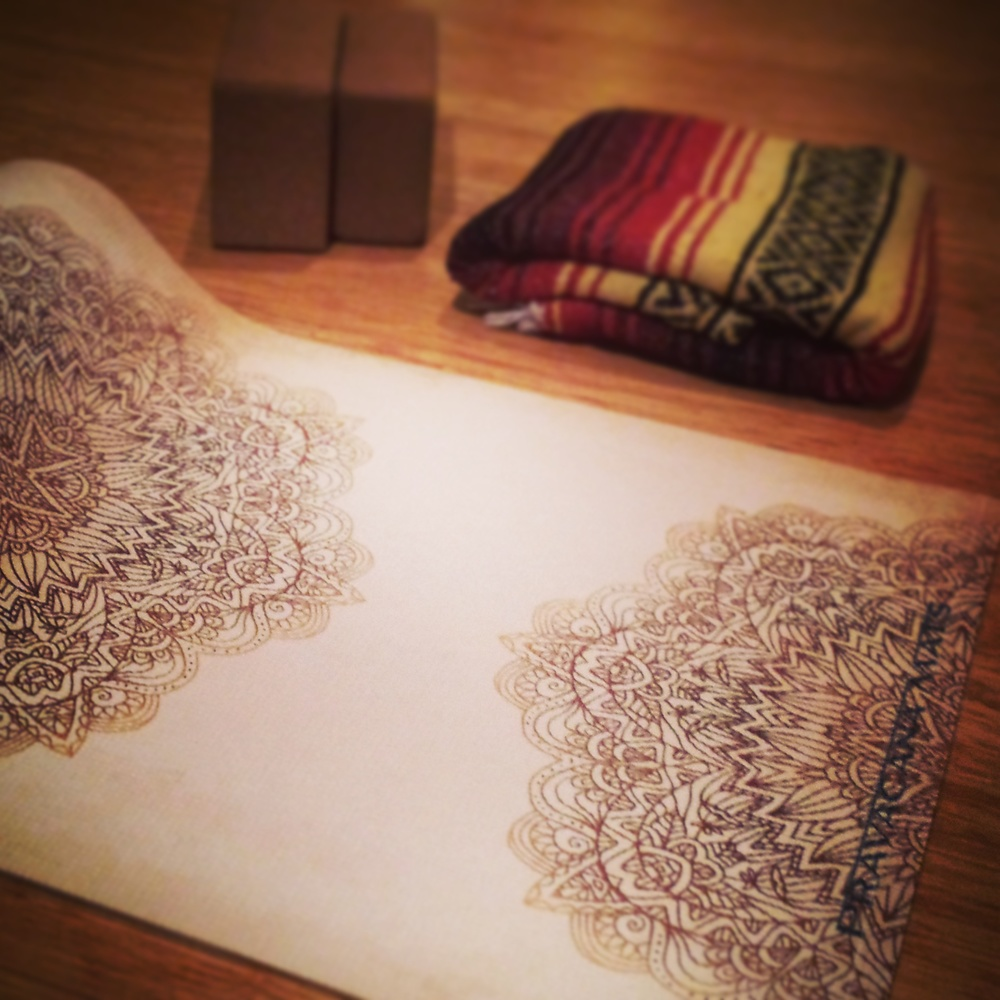 Tami's Madala, the mat used for our Hatha class
