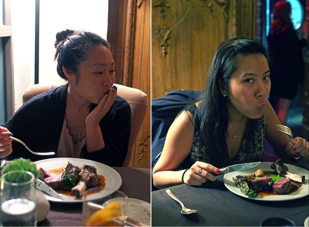 Reactions to the short rib.