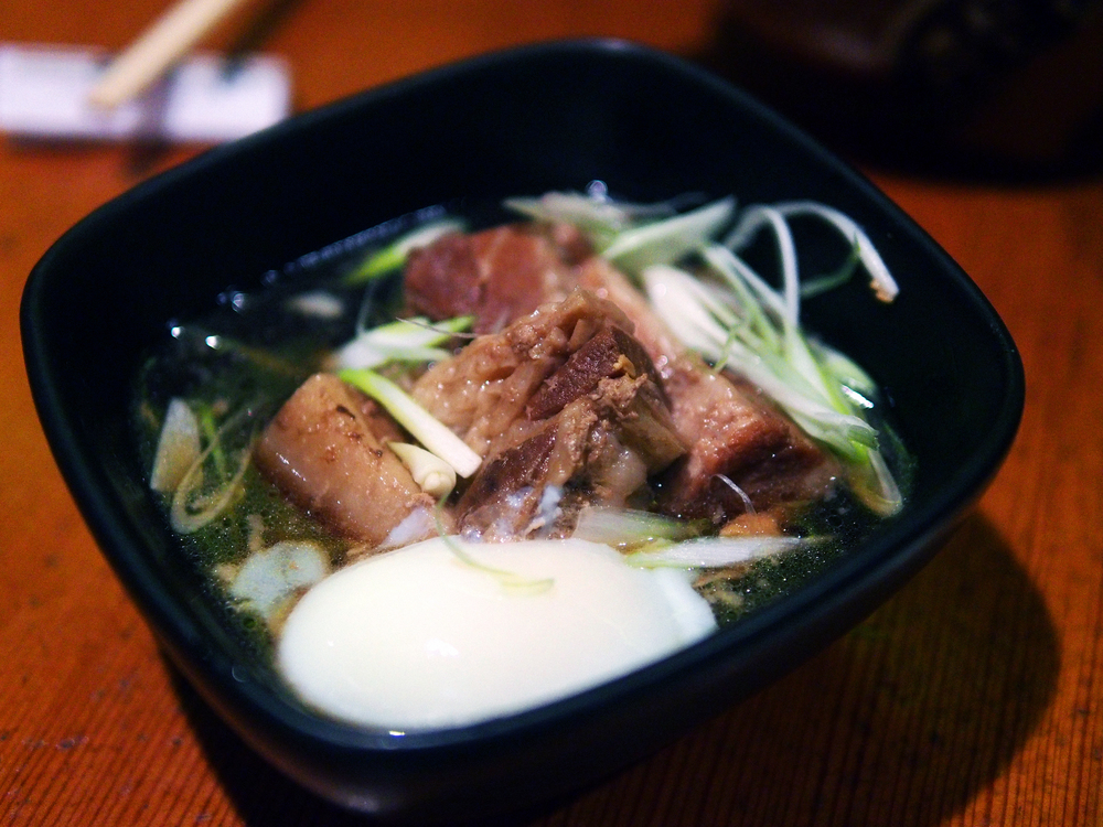 Braised pork belly with egg