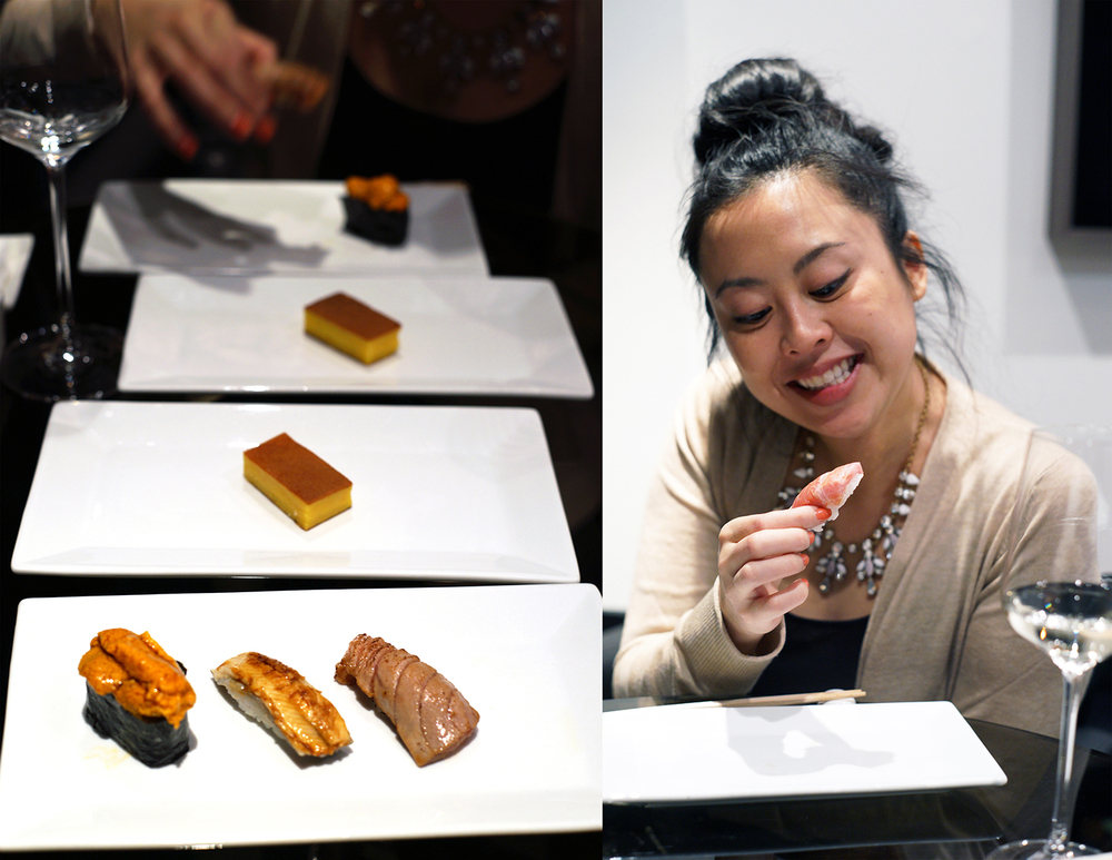 More tamago! On the right, Anna smiles at toro...who isn't smiling back.