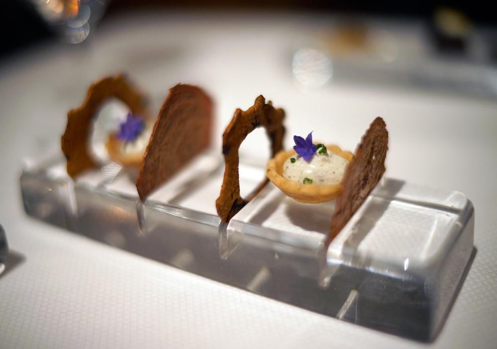 Ricotta, truffle, rooftop flower