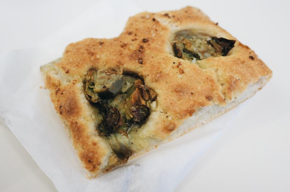 Artichoke, garlic, sea salt, and bread crumbs