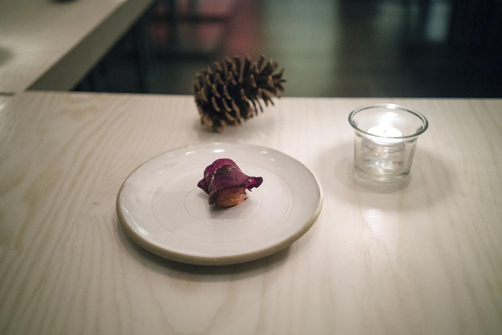 Potato, Blood Sausage, Beet