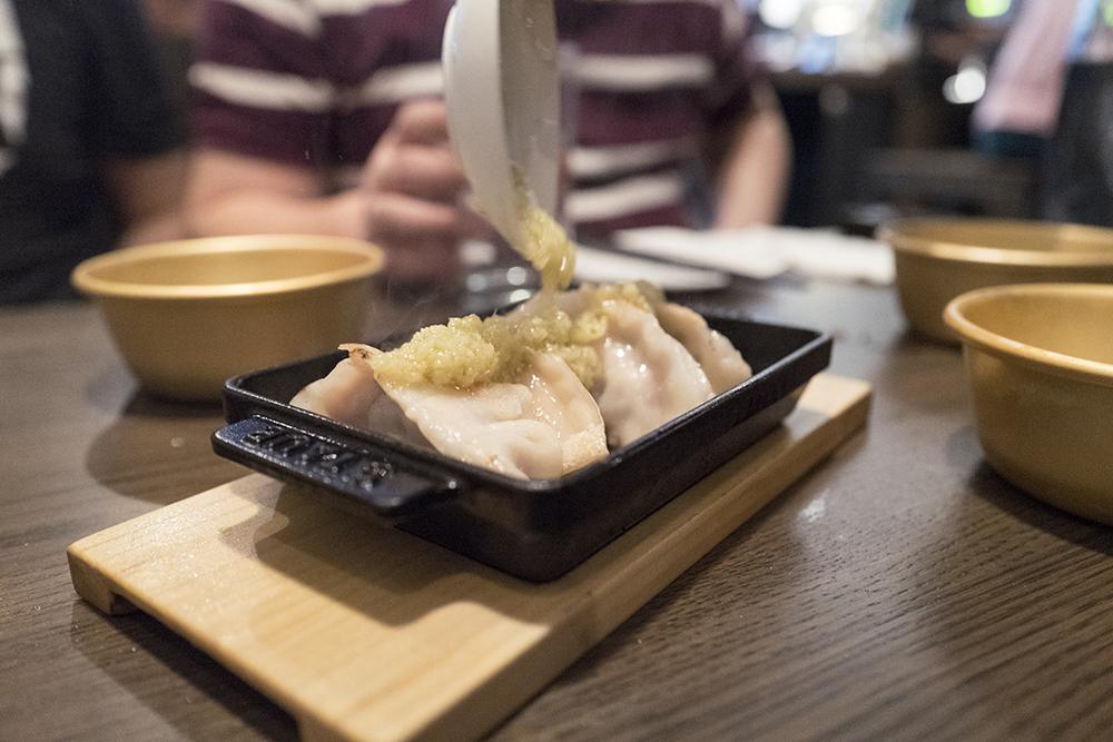 Gyoza and sake sauce