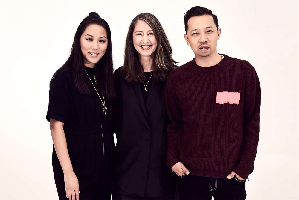 Kenzo's Carol Lim and Humberto Leo with H&M's Ann-Sofie Johansson, center