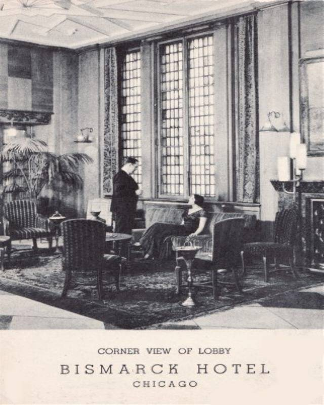postcard-chicago-bismarck-hotel-corner-lobby-man-and-woman-looks-like-old-movie-b-and.jpg