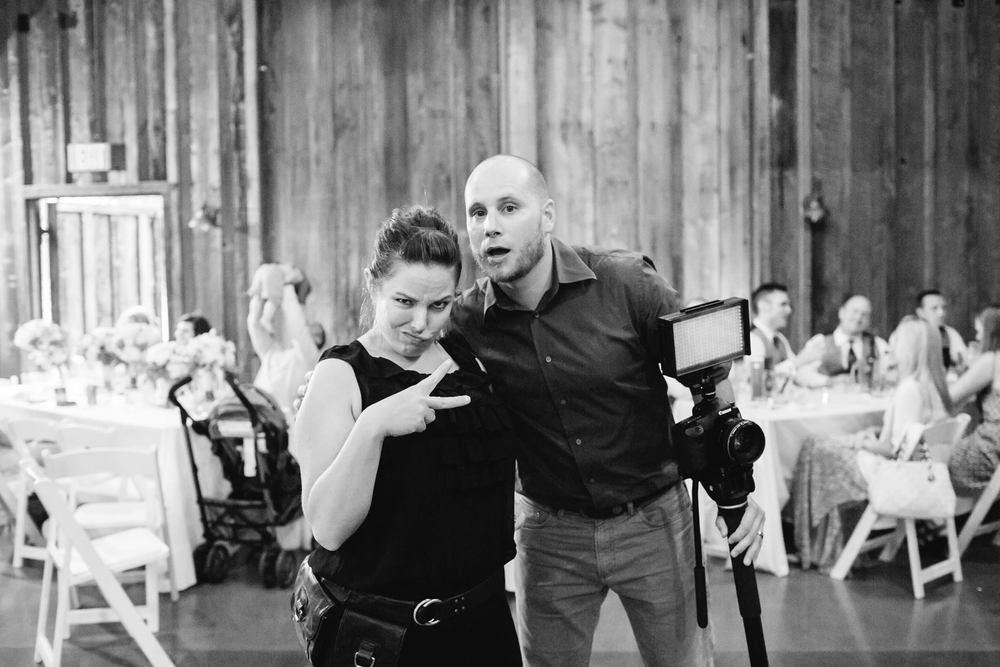 Melissa Kilner + Jarrett are two peas in a pod! Built in comic relief on your wedding day!